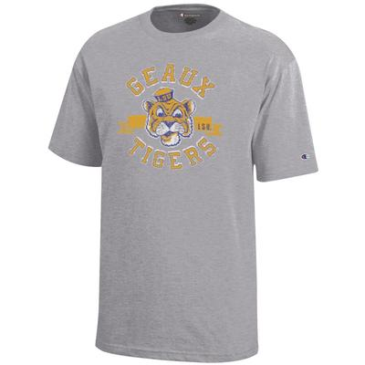 LSU Youth Vault Geaux Tigers Tri Blend Tee Shirt