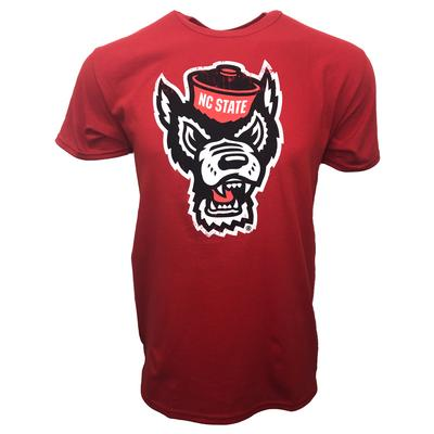 NC State Giant Logo Tee RED