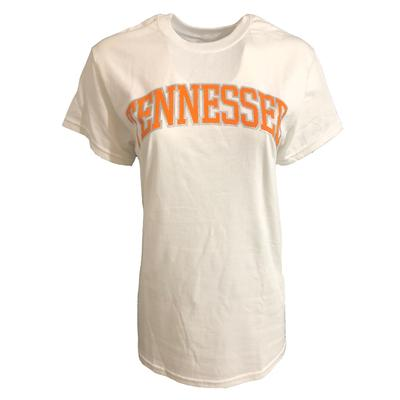 Tennessee Women's Arch Logo Tee WHITE