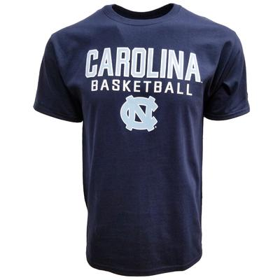 UNC Logo Basketball Tee NAVY