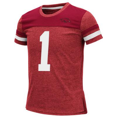 Arkansas Youth Colosseum Football Stripe Tee