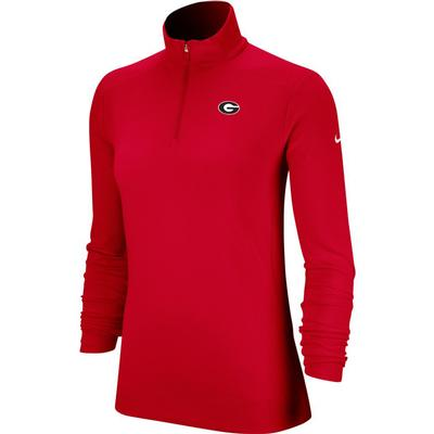 Georgia Nike Golf Women's 1/4 Zip Golf Pullover