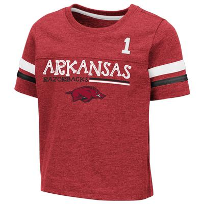 Arkansas Toddler Colosseum Football Stripe Tee