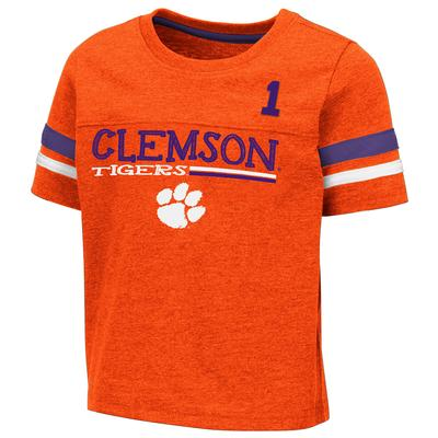 Clemson Toddler Colosseum Football Stripe Tee