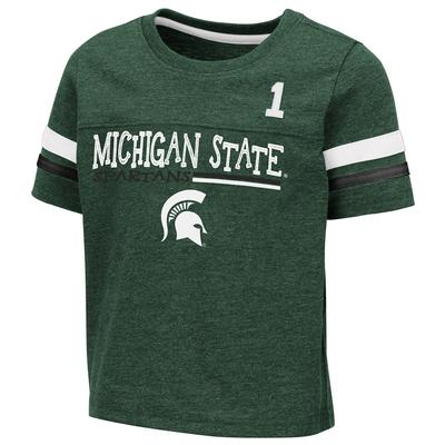 Michigan State Toddler Colosseum Football Stripe Tee