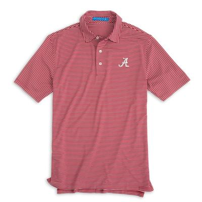 Alabama Southern Tide Gameday Striped Polo