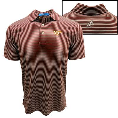 Virginia Tech Southern Tide Gameday Striped Polo