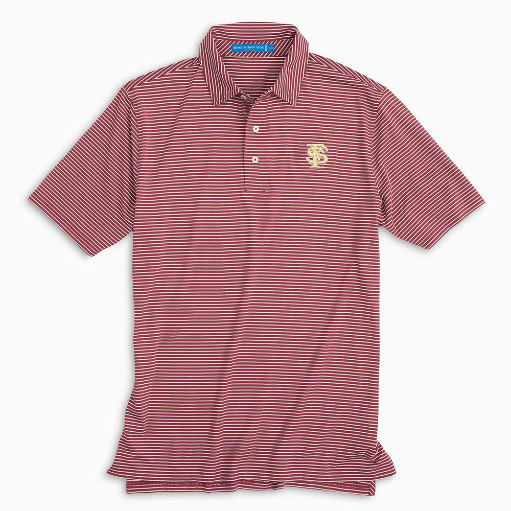 Florida State Southern Tide Gameday Striped Polo