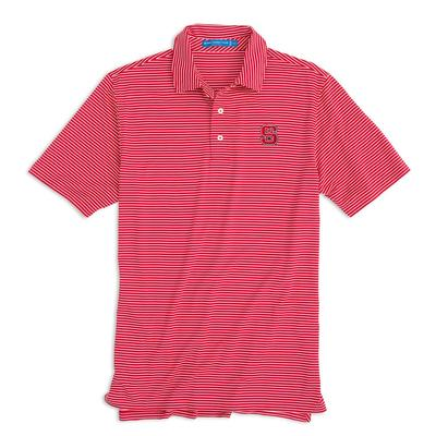 NC State Southern Tide Gameday Striped Polo RED