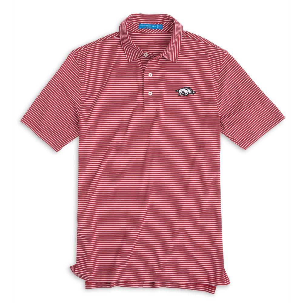 Arkansas Southern Tide Gameday Striped Polo