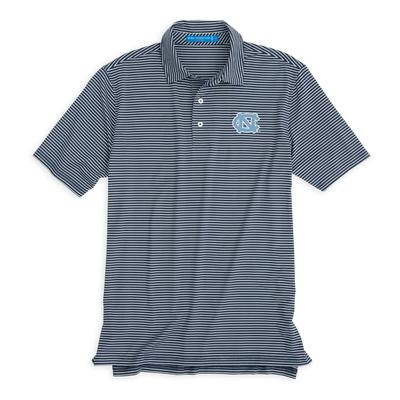 UNC Southern Tide Gameday Striped Polo NAVY