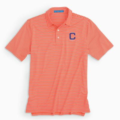 Clemson Southern Tide Vault Logo Gameday Striped Polo