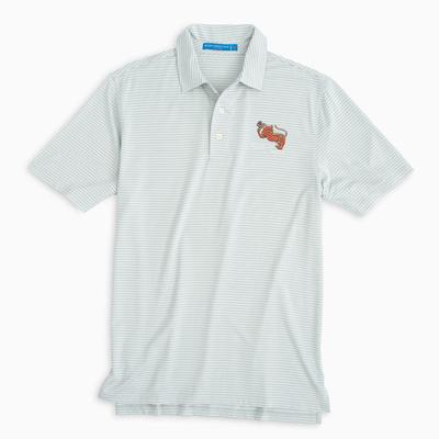 Clemson Southern Tide Gentleman Tiger Gameday Striped Polo