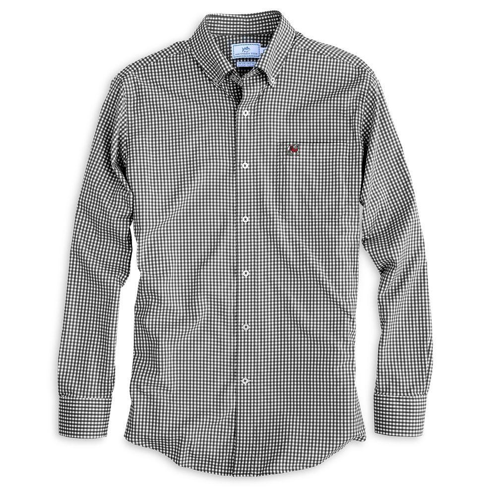 Georgia Southern Tide Gingham Woven Shirt