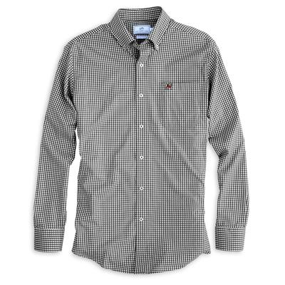 Georgia Southern Tide Gingham Woven Shirt