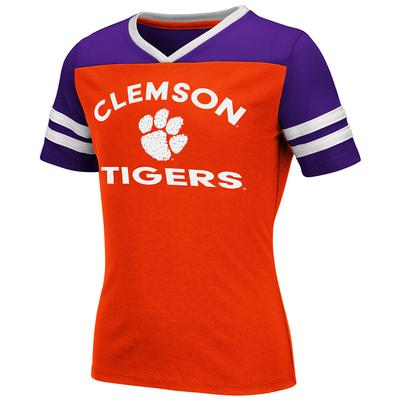 Clemson Youth Colosseum Rhinestone Short Sleeve Tee