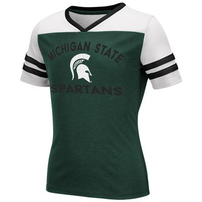 Michigan State Youth Colosseum Rhinestone Short Sleeve Tee