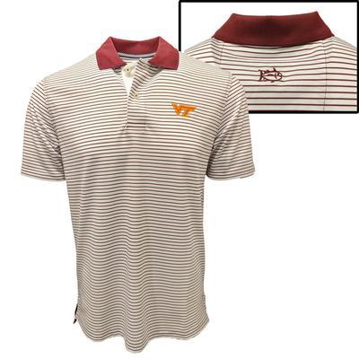 Virginia Tech Southern Tide Gameday Pique Stripe Polo