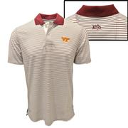 Virginia Tech Southern Tide Gameday Pique Stripe Polo