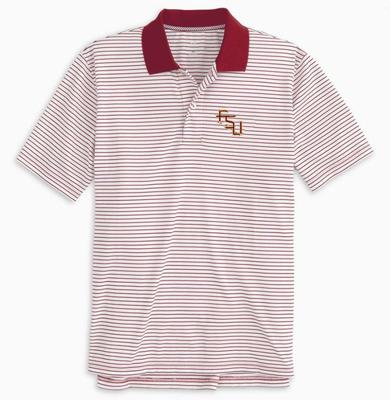 Florida State Southern Tide Gameday Pique Stripe Polo