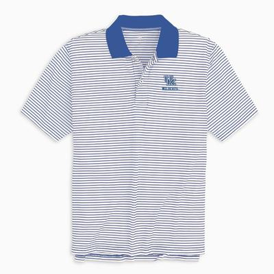 Kentucky Southern Tide Gameday Pique Stripe Polo