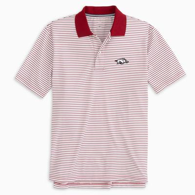 Arkansas Southern Tide Gameday Pique Stripe Polo