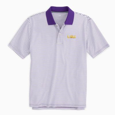 LSU Southern Tide Gameday Pique Stripe Polo