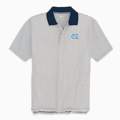 UNC Southern Tide Gameday Pique Stripe Polo