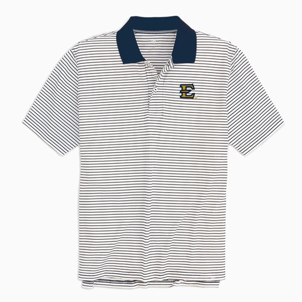Etsu Southern Tide Gameday Pique Stripe Polo