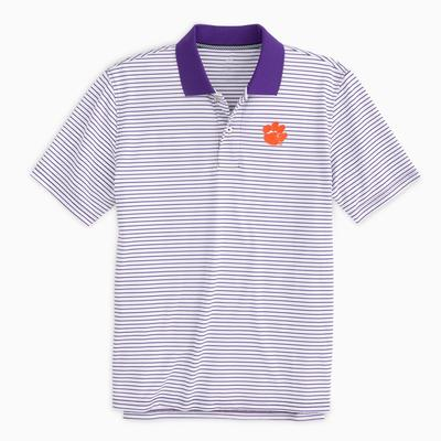 Clemson Southern Tide Gameday Pique Stripe Polo