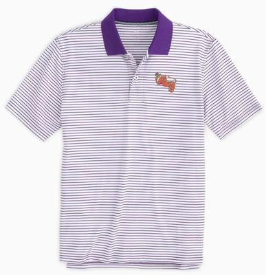 Clemson Southern Tide Gentleman Tiger Gameday Pique Stripe Polo