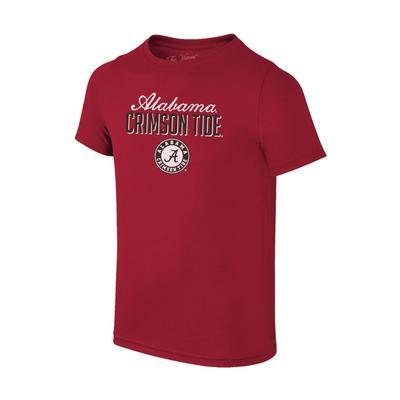 Alabama Women's Script & Block Logo Tee Shirt