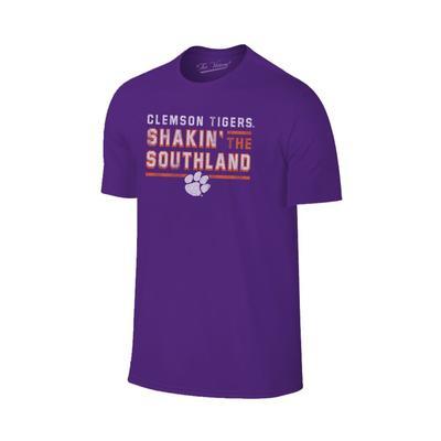 Clemson Shakin' the Southland Band Tee Shirt PURPLE