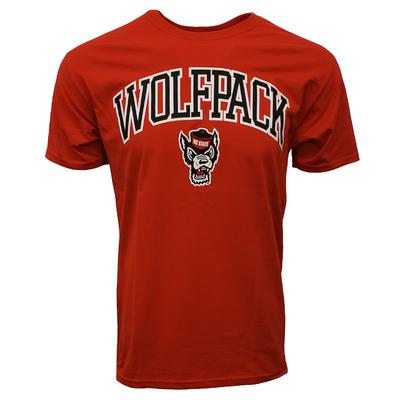 NC State Wolfpack Arch with Logo Tee Shirt