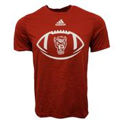 Nc State Adidas Men's Locker Football Icon Tee Shirt
