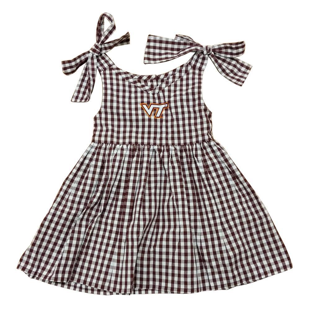 Virginia Tech Toddler Gingham Dress