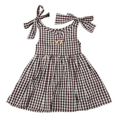 Virginia Tech Toddler Gingham Dress
