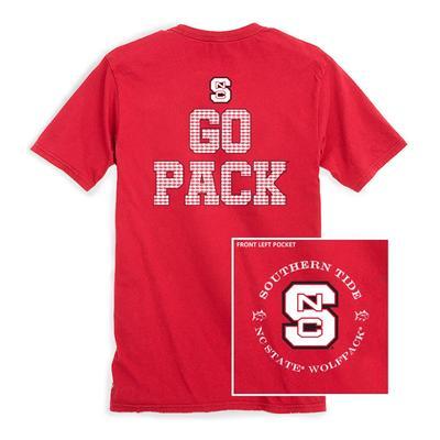 NC State Southern Tide Mini Skipjack Chant T-Shirt