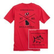Georgia Southern Tide College Cross T- Shirt