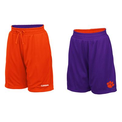 Clemson Youth Colosseum Reversible Mesh Shorts