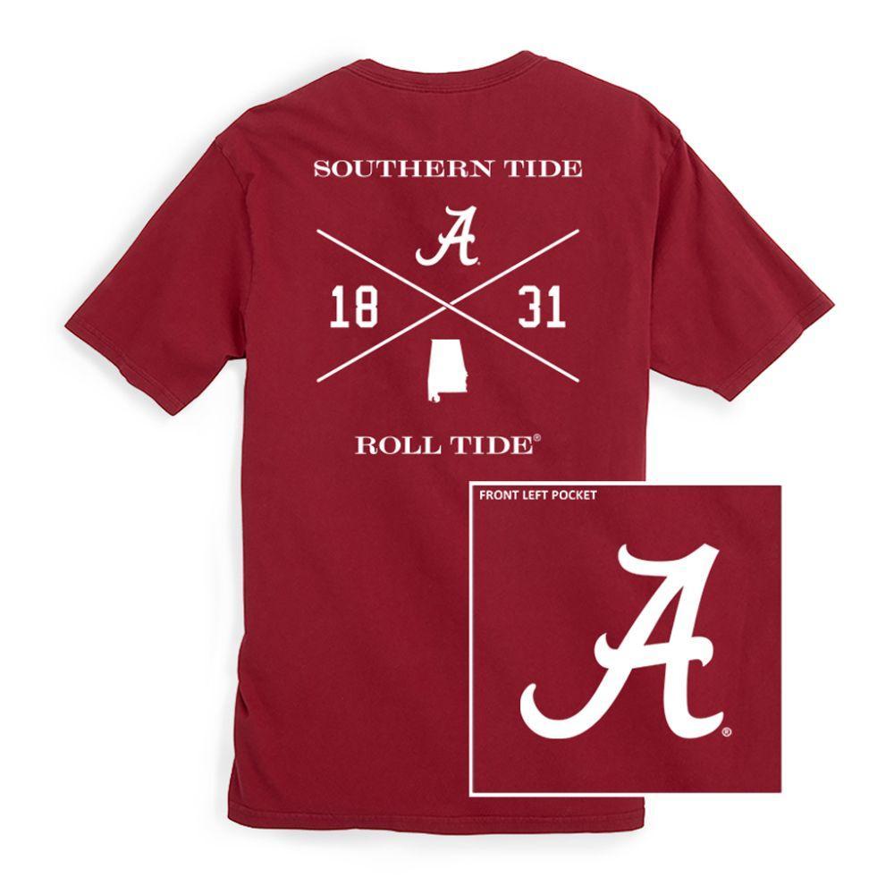 Alabama Southern Tide College Cross T- Shirt