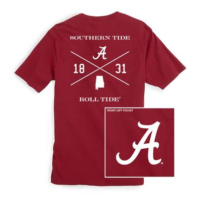 Alabama Southern Tide College Cross T-Shirt