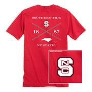 Nc State Southern Tide College Cross T- Shirt