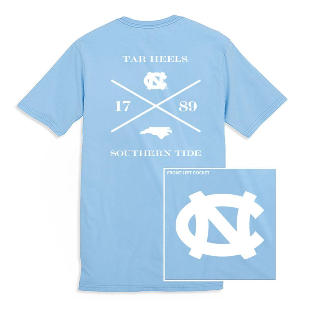 Unc Southern Tide College Cross T- Shirt