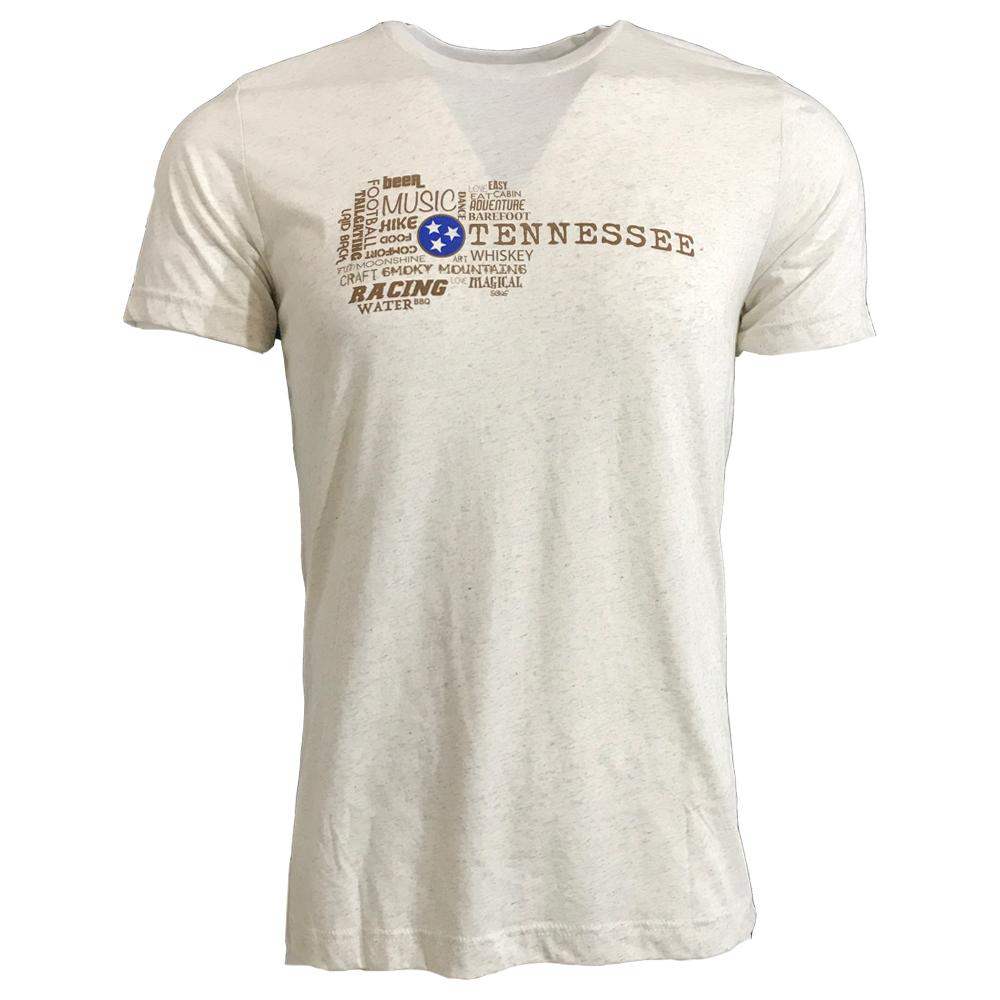 Tennessee Locales Guitar Triblend Short Sleeve Tee