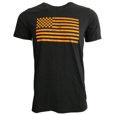 Checkered American Flag Triblend T-Shirt