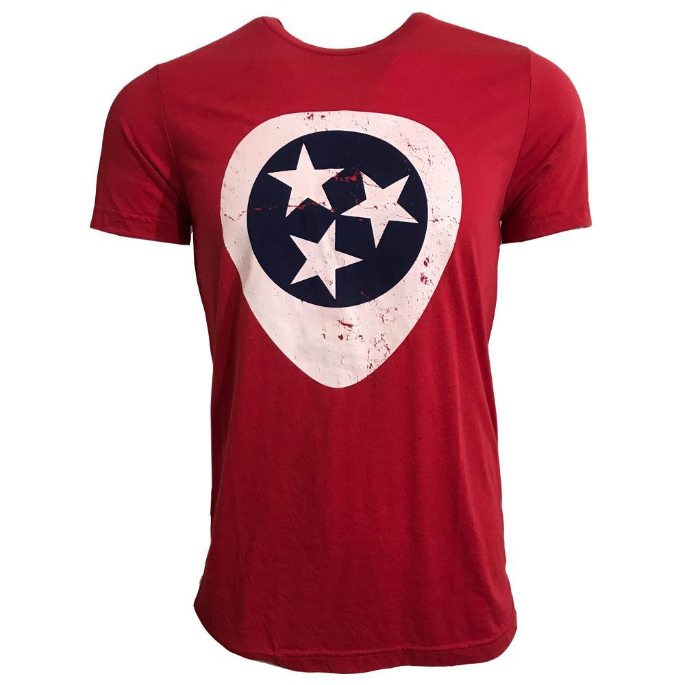 Tri- Star Guitar Pick Triblend T- Shirt