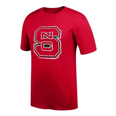 NC State Men's Interlock Giant Logo Tee Shirt RED