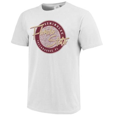 Florida State Throwback Circle Script Comfort Colors Tee