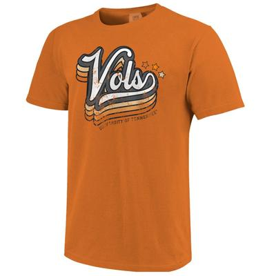 Tennessee Starry Retro Script Comfort Colors Tee